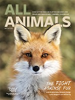 All Animals magazine September/October 2019 cover image